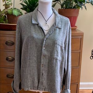 Chico's Linen Button Up Top